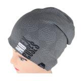 Chapeau gris estampé de Beanie de l'hiver de logo