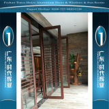 Aluminiumtüren China-Top10 mit doppelten Gläsern für Innendekoration