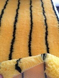 Senhe 720GSM 12mm Yellow Black Fabric