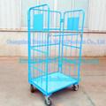 De blauwe Vouwbare StandaardKarretjes van de Logistiek