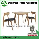 Jogo redondo moderno da mesa de centro da madeira de carvalho