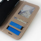 Аргументы за LG K10 2017 Flip бумажника кожи диаманта Bling