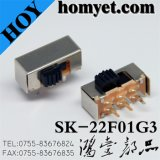 Interruptor de alternância / interruptor de deslocamento de 6 pinos de alta pressão DIP de alta qualidade (SK-22F01G3)