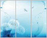 La partición del arte templó el arte de cristal rodado laminado edificio de la ventana de la puerta del tarro de la pintura del modelo de la burbuja decorativo