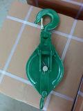 Abrir el tipo polea del bloque de arrebatamiento del cable con el gancho de leva 0.25t en 10t