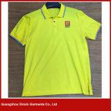 자유로운 DIY 디자인 주문품 대량 공백 인쇄된 노란 t-셔츠 (P154)