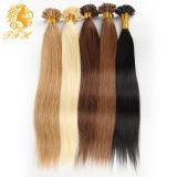 ブラジル毛の拡張9カラーブラウンブロンドのKertain Prebondedの人間の毛髪の拡張18-24インチの自由な出荷をUひっくり返しなさい