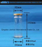 De Fles van het glas voor Honing of de Opslag van Groenten in het zuur zonder Patroon