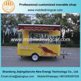 Горячий трейлер доставки с обслуживанием сбывания и еды новой конструкции передвижной