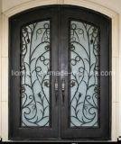 斜めガラスが付いている耐久の錬鉄の前ドア