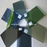 vidrio de flotador coloreado gris oscuro teñido 3-10m m