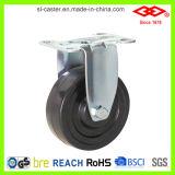 100mm Schwenker-Platte mit seitlicher Bremsen-harter Gummi-Fußrolle (P120-53B100X32Z)