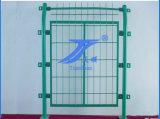 PVC recubierto de alambre de metal de malla de la cerca Frame