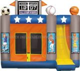 Castillo inflable Combo, tema de los deportes Moonwalks (B3018)