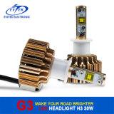 Farol 60W 6400lm do diodo emissor de luz do carro do bulbo H3 do farol do diodo emissor de luz G3 para o jogo 6000k da conversão do farol do carro