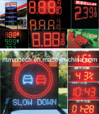 Muestra variable del tiempo del número del dígito