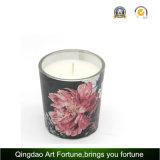 Candela Votive di vetro sentita fragranza calda di vendita con la casella di colore e l'imballaggio dell'arco del nastro per la decorazione domestica