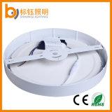 La iluminación doméstica superficie redonda de la luz de panel LED lámpara de techo de la luz de abajo