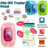Tirple 위치 H3를 가진 최신 판매 아이 GPS 추적자 시계