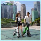 250W 무브러시 모터 2 바퀴 쇠사슬 소형 작은 폴딩 전기 자전거