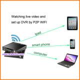 4 Kanal Mdvr Systeme mit GPS, der für Fahrzeuge CCTV-Überwachung aufspürt