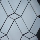 美しい一見の磨かれた星の白い大理石のモザイク・タイル