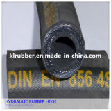 Mangueira de borracha hidráulica flexível de alta pressão