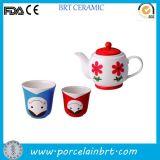 Japaness Nesting Doll 3PC Teapot Set