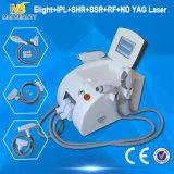 IPL+RF+Elight+ND YAGの1台の多機能の美機械に付き熱い販売の5台
