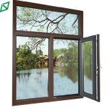 Het dubbel Aangemaakte Openslaand raam van het Aluminium van het Glas Houten Beklede (ys-72)