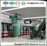 Qualitäts-akustische verschobene Aluminiumdecke für Untergrundbahn