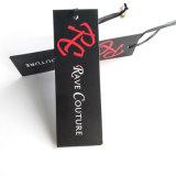 Etiquetas impresas papel de encargo de la ropa de la etiqueta de la caída de la alta calidad
