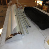 L'alluminio tir suare il basamento della bandiera rotola in su la bandiera per la promozione