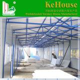 Foshan에서 하는 파란 색깔 전통적인 디자인 조립식 집
