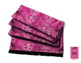 여자를 위한 Sakura 패턴 100% 실크 스카프