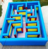 Labirinto gonfiabile del castello di colore blu per sia i capretti che l'adulto