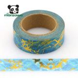 Alibaba Verkaufsschlager-Marmor-Entwurfs-Goldfolien-dekoratives selbsthaftendes Kreppband GroßhandelsScrapbooking