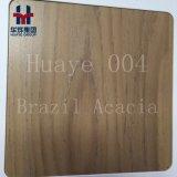 Modèle en bois Décoration en acier inoxydable de la feuille de transfert de technologie de l'impression