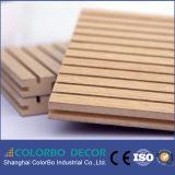 Painel acústico de madeira MDF Material de decoração de parede interior!