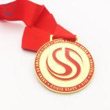 ファブリックリボンが付いているブラジルのフットボールクラブ金のSandfaceカスタムメダル
