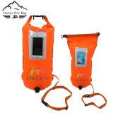sac gonflable de bouée de nageur de la couleur 28L lumineuse populaire avec la poche de téléphone