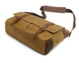 Sacchetto di libro classico della cartella della spalla della tela di canapa dell'annata del sacchetto del messaggero di Redswan (RS-16930)