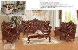 Neue Ankunfts-königliche Art-neues klassisches ledernes Sofa (158)