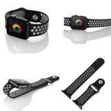 O melhor silicone duplo de venda das cores ostenta a cinta de relógio para a série de faixa 3 do relógio de Apple