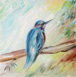 壁の装飾のための木のハンドメイドの油絵の新しい到着の多彩な鳥