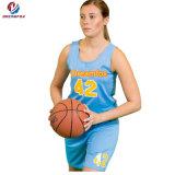 Формы баскетбола конструкции Джерси баскетбола сублимации дешевые изготовленный на заказ для женщин