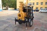 Equipo de bombeo diesel del agua con el acoplado de cuatro ruedas