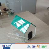 L'usine Cutom a fait les cadres acryliques de Dontation