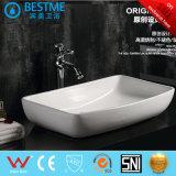 Lavabo de partie supérieure du comptoir d'art de salle de bains avec le robinet Bc-7011