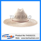 Sombrero de vaquero de la paja del hombre de la hierba de la estera del sombrero para la promoción